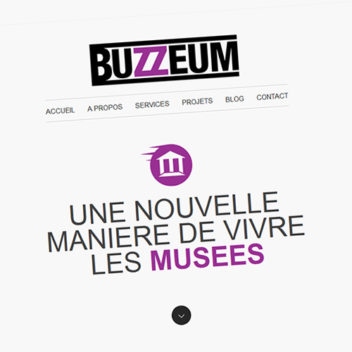 Buzzeum, website detail.