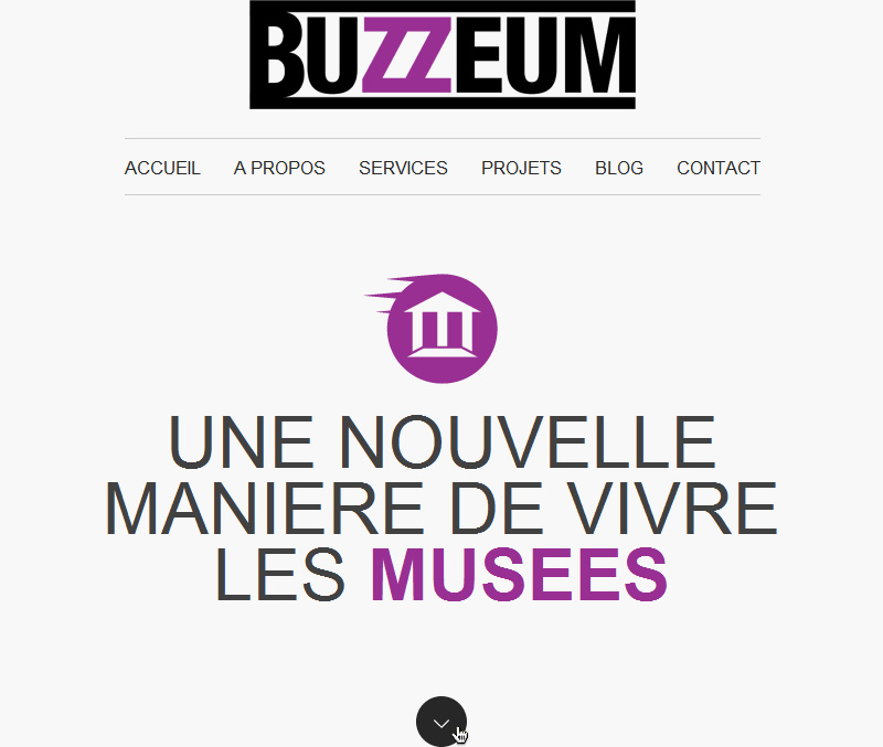 Buzzeum, website detail.
