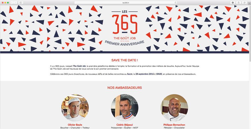 """Website for """"Les 365"""""""